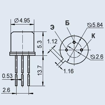 Транзистор КТ343В