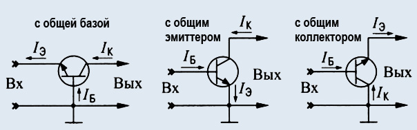Схемы включения биполярного транзистора
